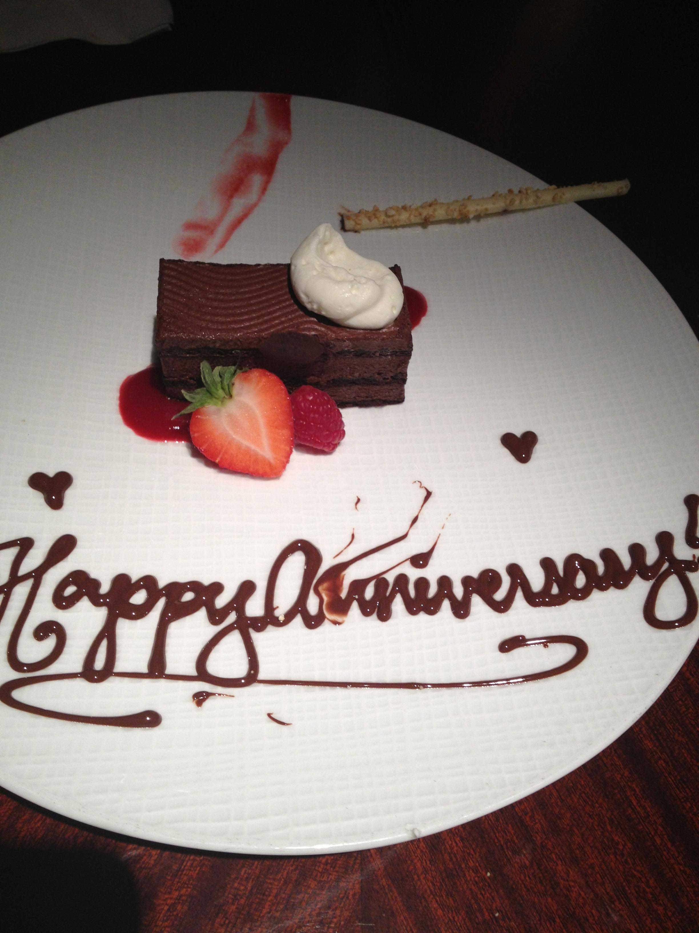 A beautiful Anniversary dessert!