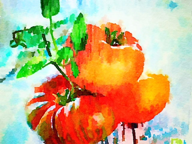 Painted in Waterlogue: Weekend Pumpkins